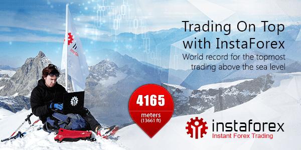Perdagangan di atas dengan InstaForex!