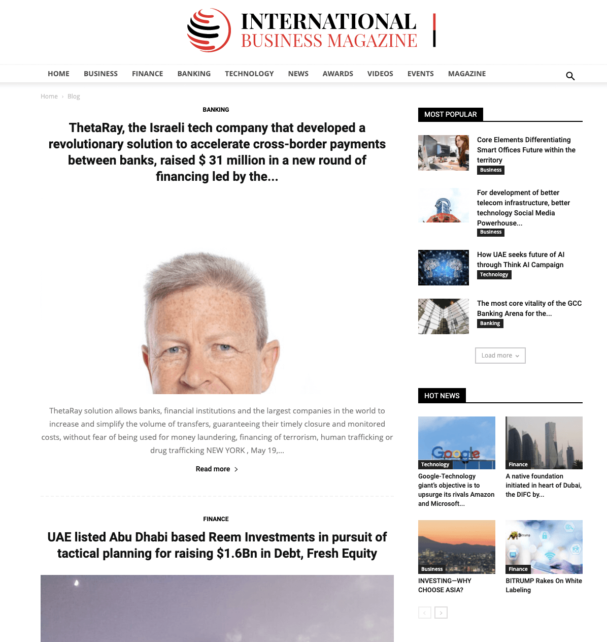 International Business Magazine, January 2021