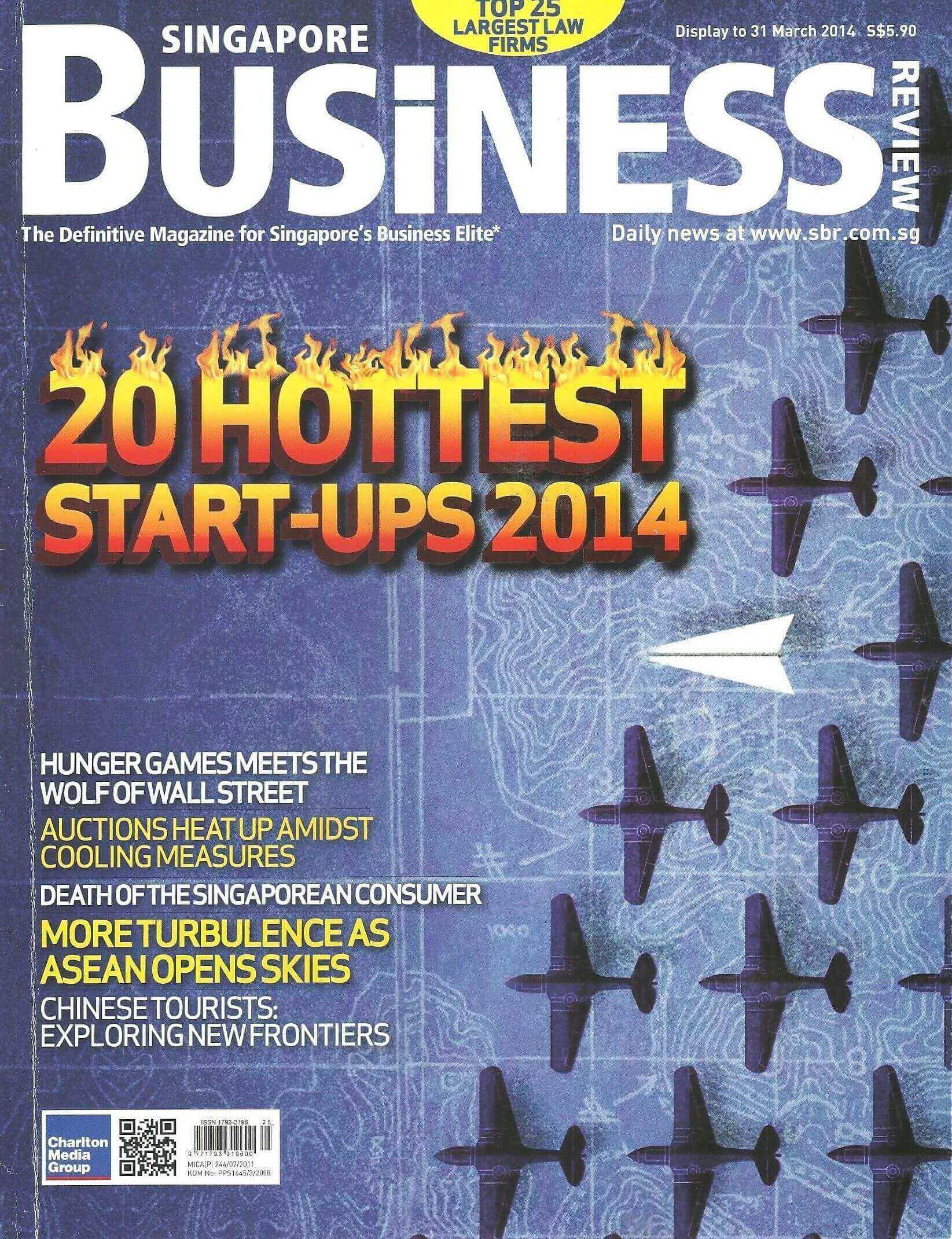 Singapore Business Review Magazine, apríl 2014