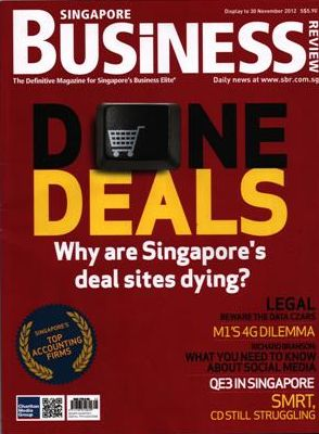 Singapore Business Magazine, Novembro de 2012