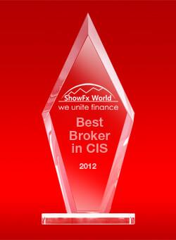 Best Broker CIS 2012 by ShowFx World