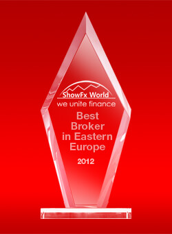 Best Broker in the Eastern Europe 2012 by ShowFx World