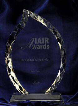 Nejlepší retailový Forexový broker 2012 na IAIR Awards