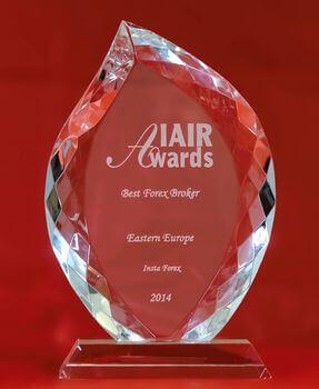 Najlepší forexový broker vo východnej Európe 2014 na IAIR Awards