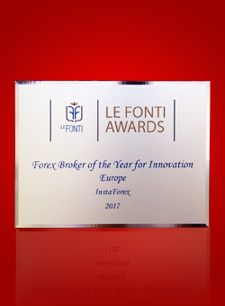 Forex Broker of the Year voor Innovation Europe 2017 door Le Fonti Awards