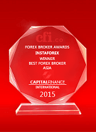 Mejor Broker en Asia 2015 por el Capital Finance International