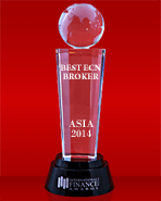 Beste ECN Broker in Azie 2014 door International Finance Magazine