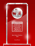 «Meilleur courtier en Asie 2011» selon World Finance Awards 2011