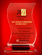 Forex & Investment Summit 2011 - Best Retail FX Provider Award 2011