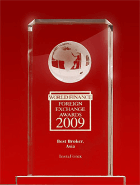 World Finance Awards 2009 - Il Miglior Broker in Asia