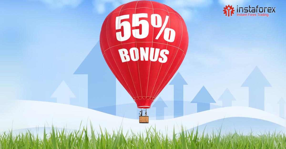 Lakukan deposit dan dapatkan bonus 55%