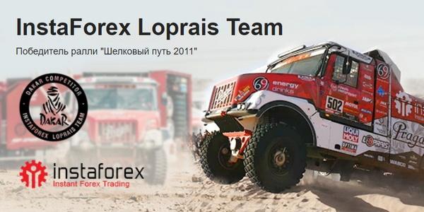 «Дакар»  ралли-рейдке ресми қатысушы —  «InstaForex Loprais Team командасы