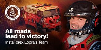 InstaForex - Ales Loprais pilotul echipei Loprais